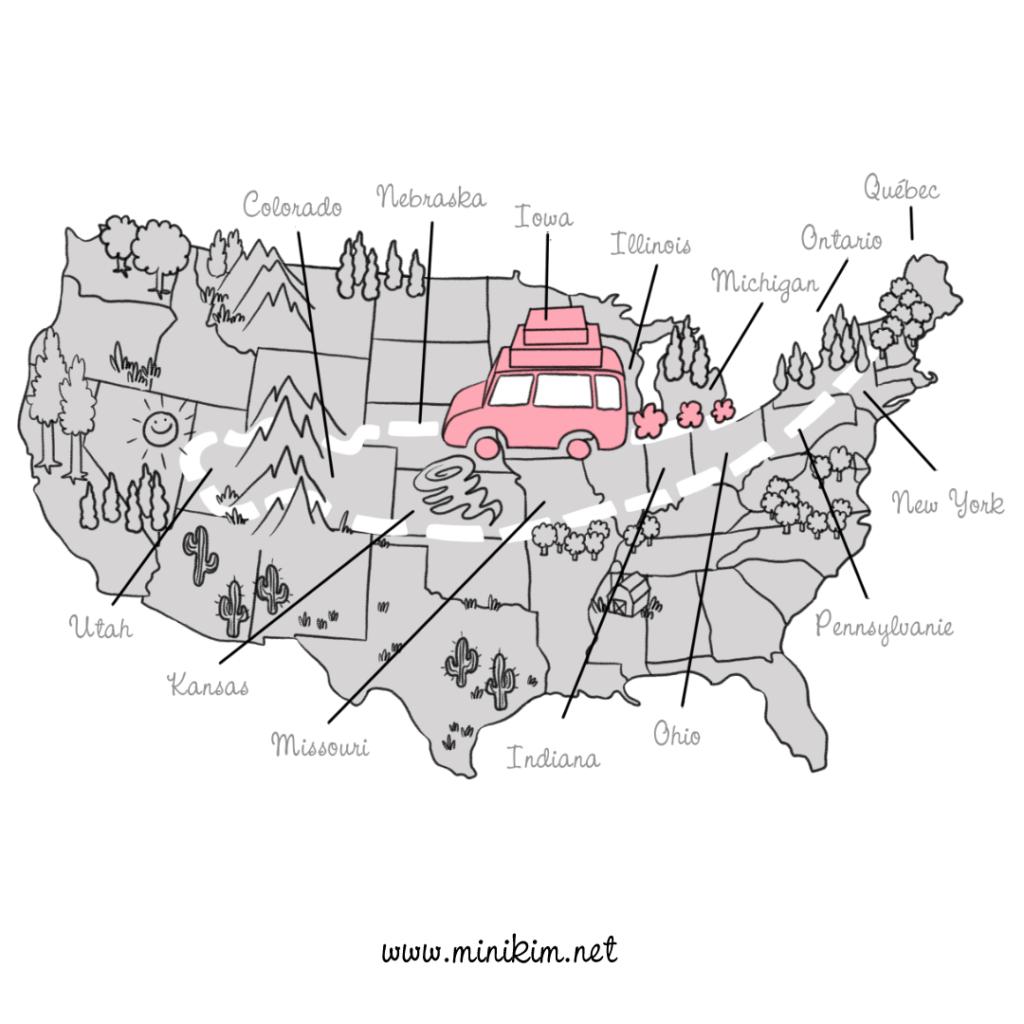 Road trip en famille à travers les états unis voyager en famille sur la route avec les enfants camping