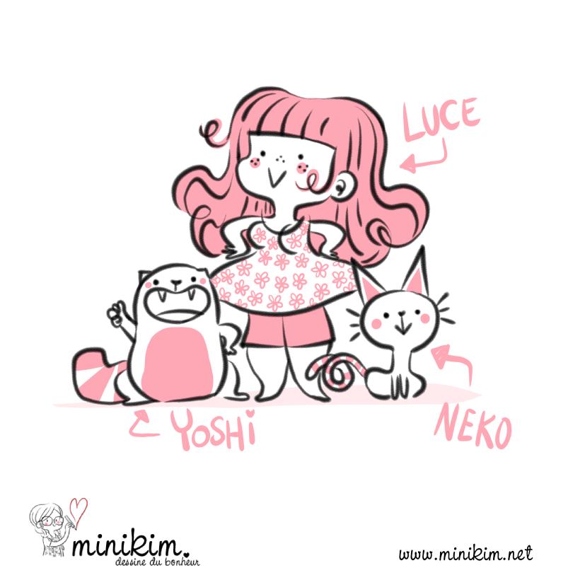 Chat matou minou mignon cute adorable bonheur caresse miaou kawaii adorable dessin illustration dessiner bande dessinée de chat chi BD