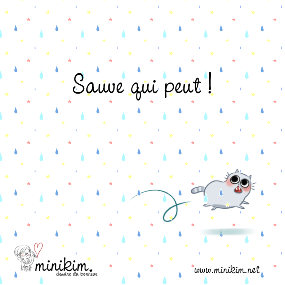 Chat d'Internet, illustration chat, dessin de chat, Bande dessinée de chats, BD de chats, Chat, histoire de chat, vie de chat, dessin, illustration, illustrateur Montréal, Sauve qui peut