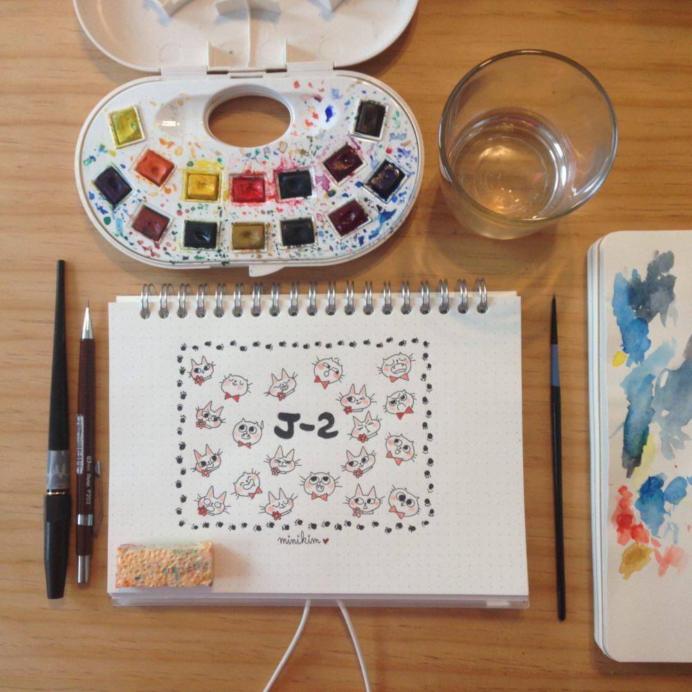 minikim, 30 ans 2 chats, bande dessinée, chat, livre de chat, livre sur les chats, Flora, Editions bamboo, illustration, Montréal, dessin en direct, aquarelle, Sortie imminente, bientôt disponible, carnet muji, carnet addict, dessin, illustrateur, dessinateur, auteure, autrice