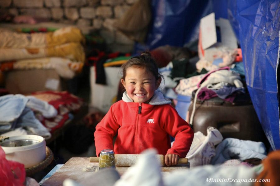 A happy sherpa kid, Nepal