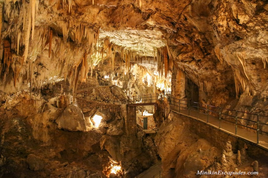 Postojna caves in Slovenia