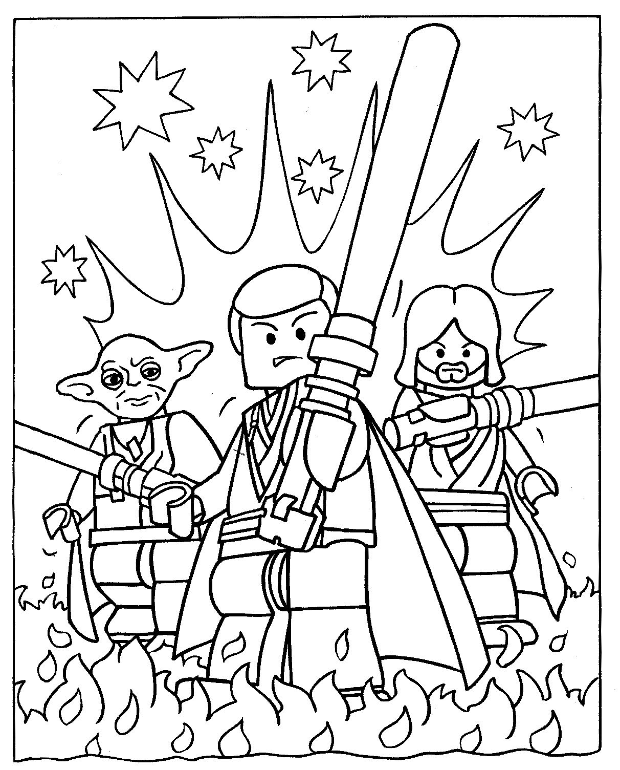 lego minifigure star wars colouring pages