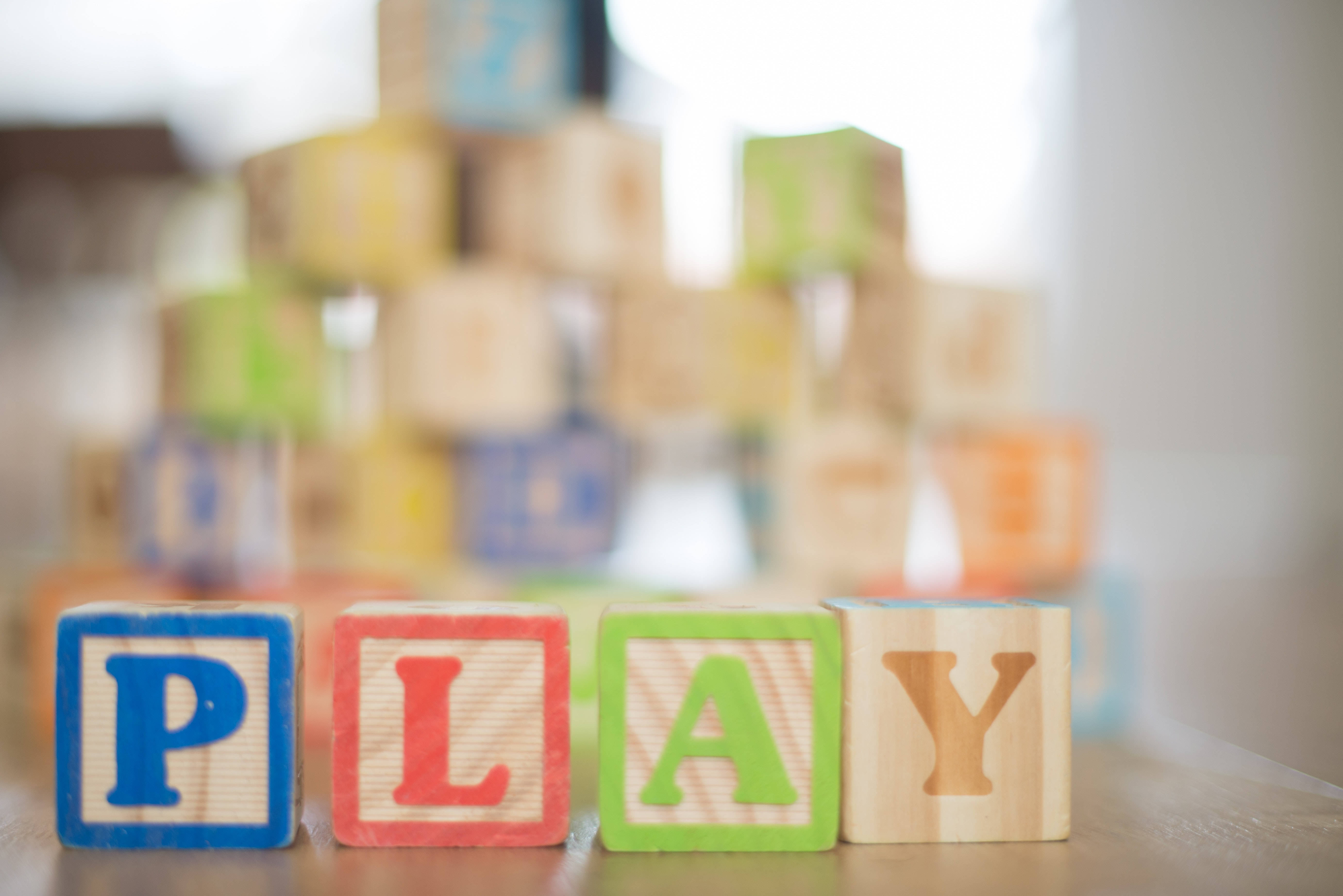 Alphabet Blocks Spelling Out Play