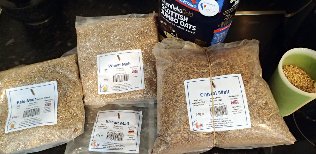 Grain mix for the English wheat beer