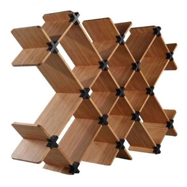 Creative natural wooden furniture shelves design