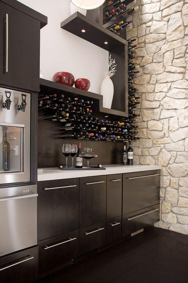Modern Wine Racks An Impressive Decorative Element In The