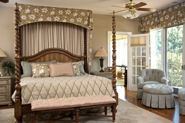 Bedroom Decoration Ideas Canopy Bed Valance Fl Pattern