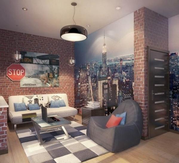 Grey Brick Wallpaper Bedroom Ideas Sage And Cream Shaker Style Part 96