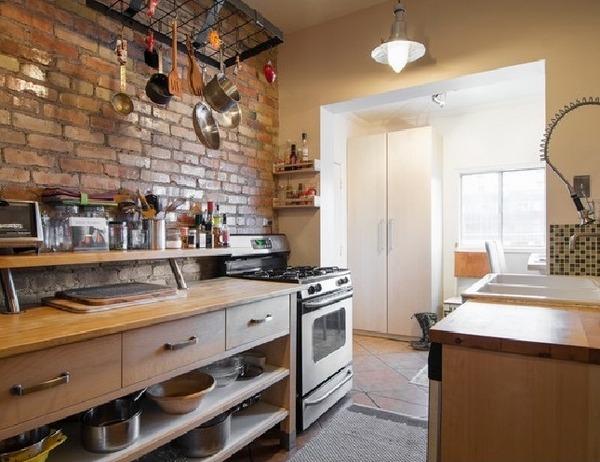 Rustic brick kitchen backsplash. brick backsplash kitchens decor ...