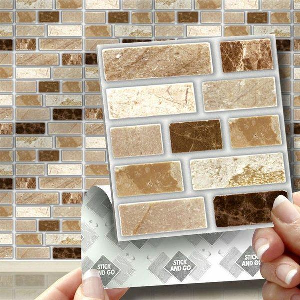 Backsplash Tiles In Peel And Stick
