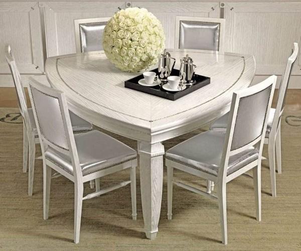 triángulo blanco de mesa de comedor muebles de comedor Ideas blanco
