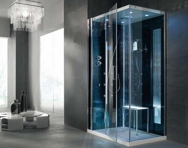 Modernas ideas de la ducha de vidrio cristal de la ducha multifuncional de diseño de muebles de baño de la cabina