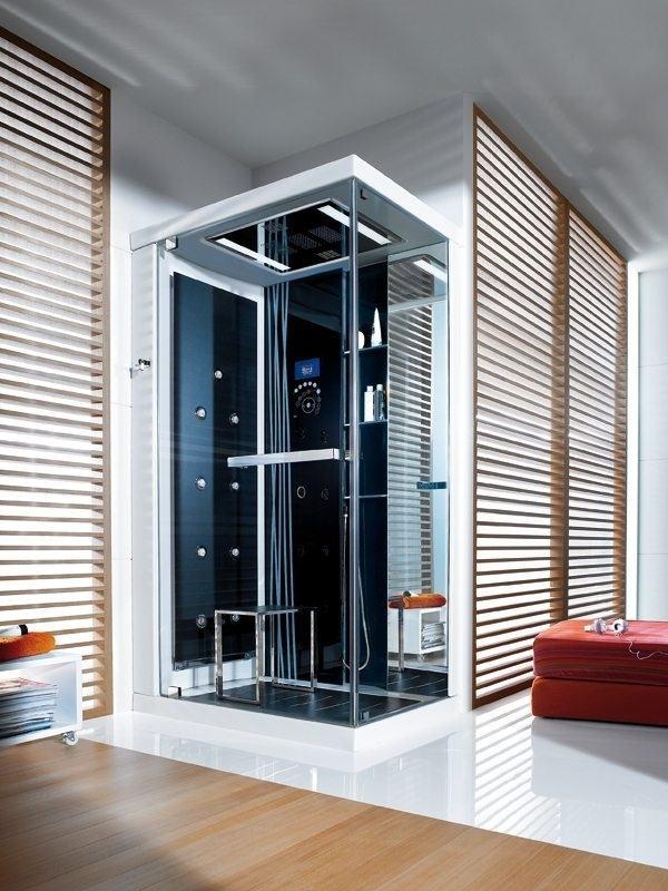 Ideas cuarto de baño de cristal moderno diseño de la cabina de ducha