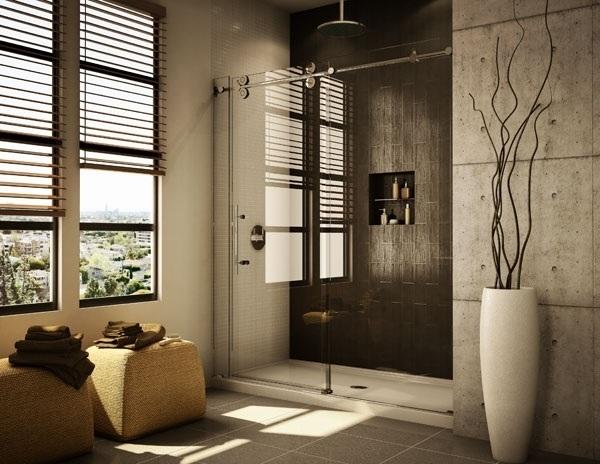 baños únicos pie en puertas de ducha ducha de vidrio sin marco