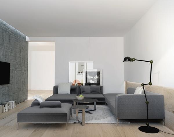 sala de estar gris, serie gris ideas de muebles sofá moderno de poca