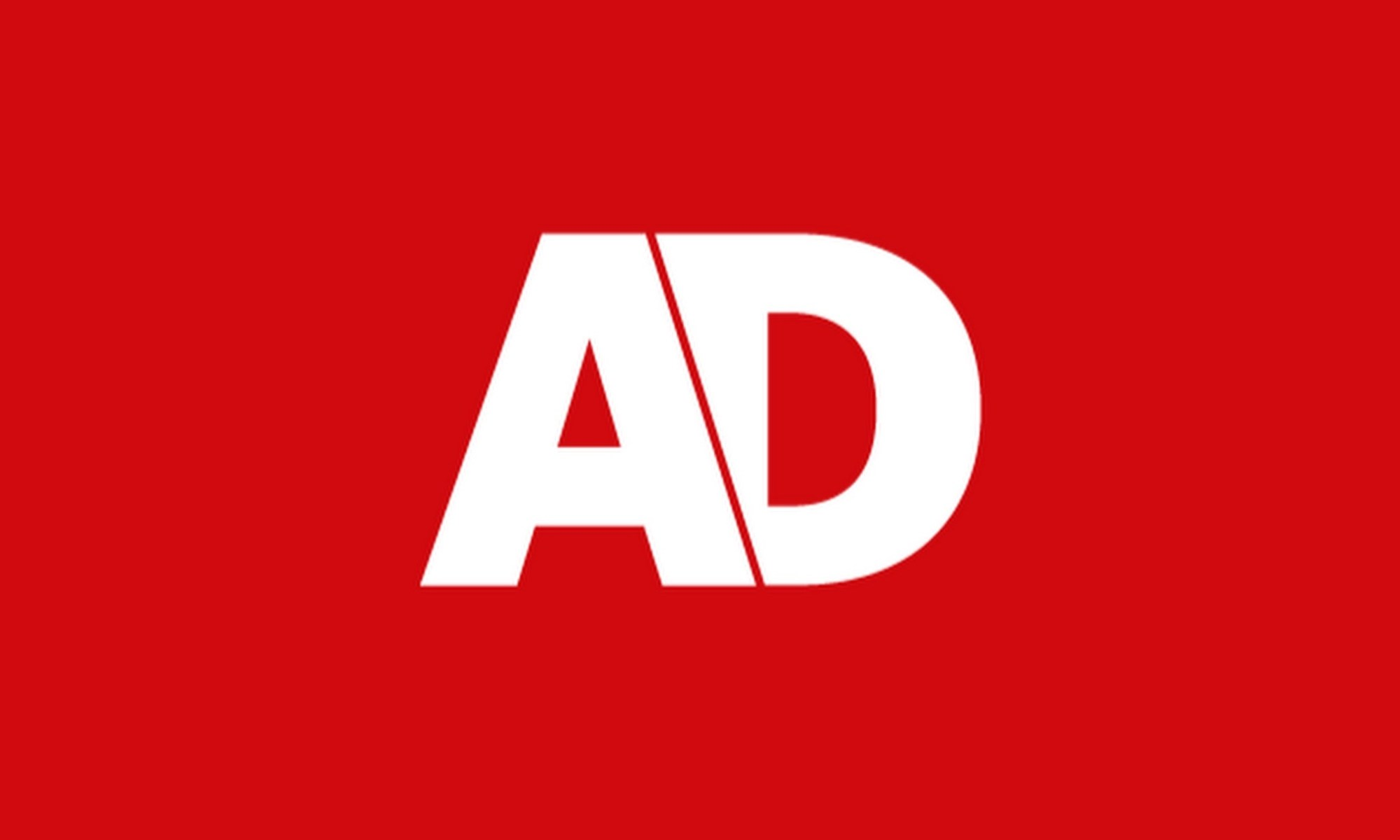 AD newspaper logo on red background
