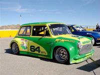 Mini  Mania Sponsored MINI competing in 2010 SCCA race