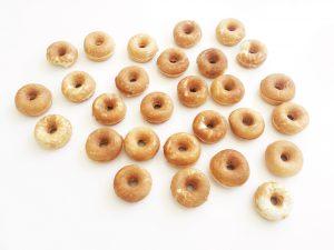 mini-donuts färdiggräddade