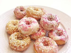 mini-donuts gjorda i maskin