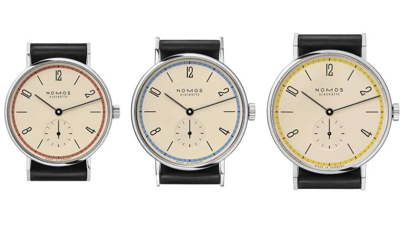 Nomos Glashuette Tangente 100 Years Bauhaus Limited Edition Trio of Watches
