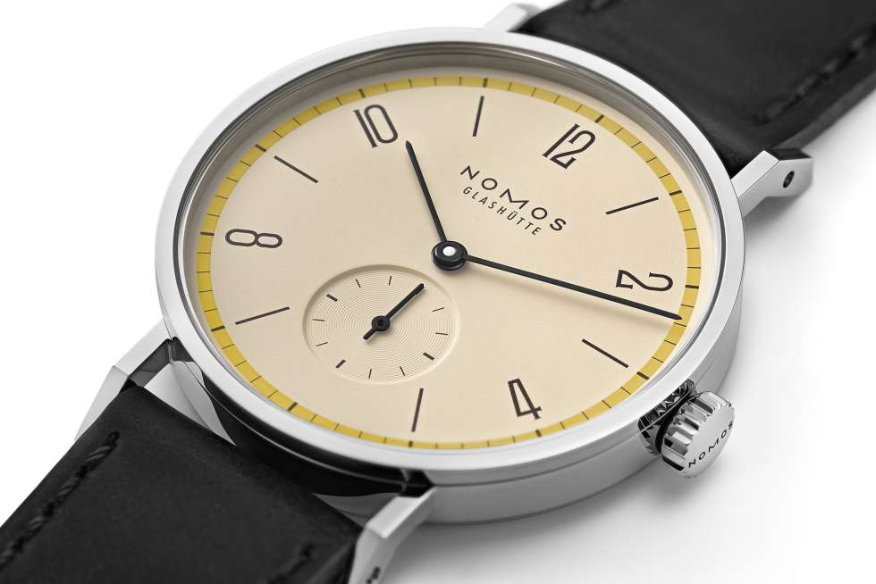 Nomos Glashuette Tangente 100 Years Bauhaus Limited Edition Yellow