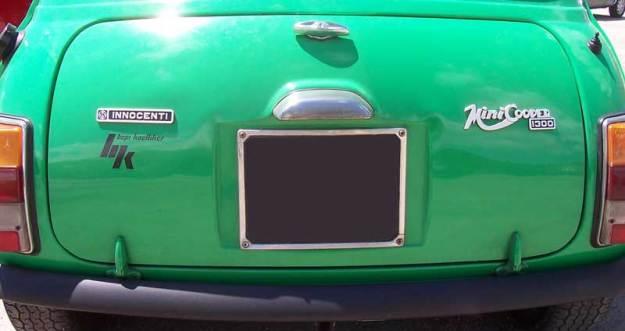 Il cofano posteriore delle ultime Innocenti Mini Export.