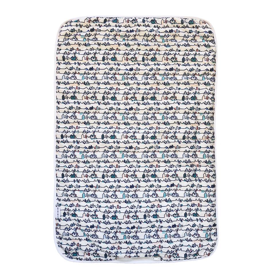 couverture nomade bébé compactable rayée multicolore chaude douce city MINIMIZ