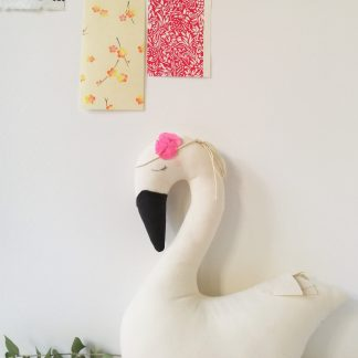 mobile cygne scalae maman bebe tissu decoration murale