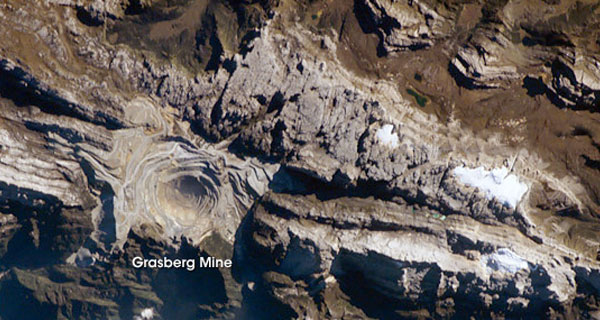 Here are the world's top 10 gold producing mines - grasberg-mine