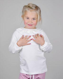 Genser med krage – hvit