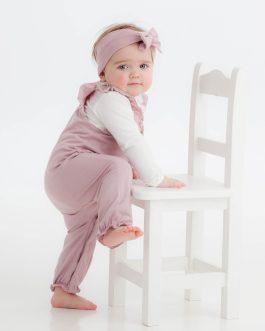 Jumpsuit – Støvet rosa