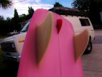 "5'6"" Pink Mini Simmons w/ FCS Stubby Stabilizer"