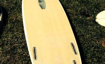 5'2'' Mini Simmons Bamboo laminate Epoxy quad future fins