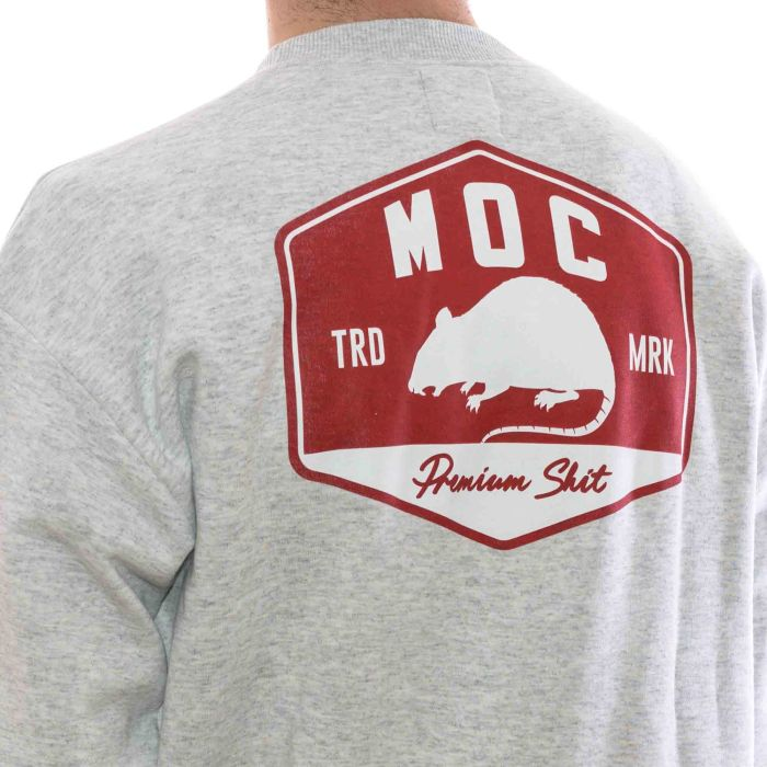 MOC GAS STATION CREWNECK HEATHER GREY 4