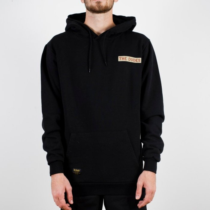 THE DUDES BACON CHEESE BURGERS HOODIE BLACK
