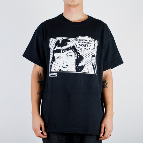 THRASHER BOYFRIEND TEE BLACK