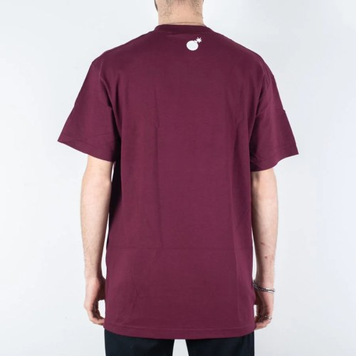 THE HUNDREDS BAR LOGO TEE BURGUNDY