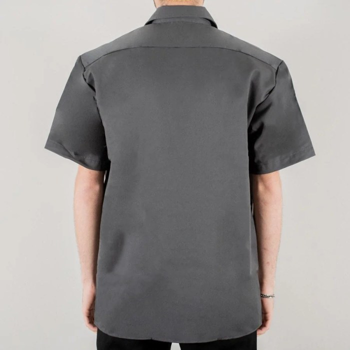 DICKIES WORK SHIRT SS CHARCOAL GREY (2)