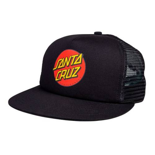 SANTA CRUZ CLASSIC DOT MESH CAP BLACK BLACK