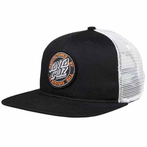 SANTA CRUZ MFG DOT CAP BLACK WHITE