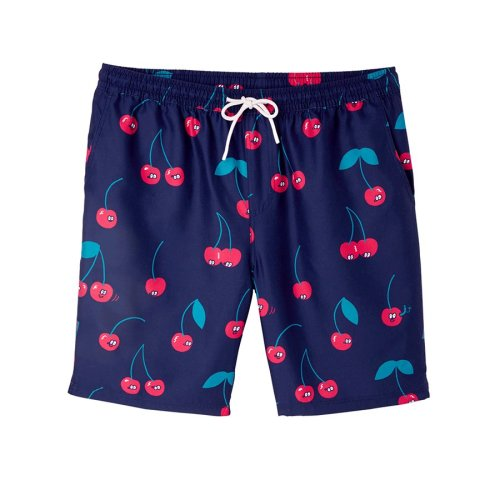 LOUSY LIVIN CHERRIES BEACH SHORTS BLUE