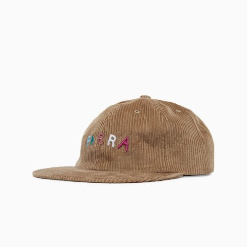 PARRA FONTS ARE US 6 PANEL HAT CAMEL