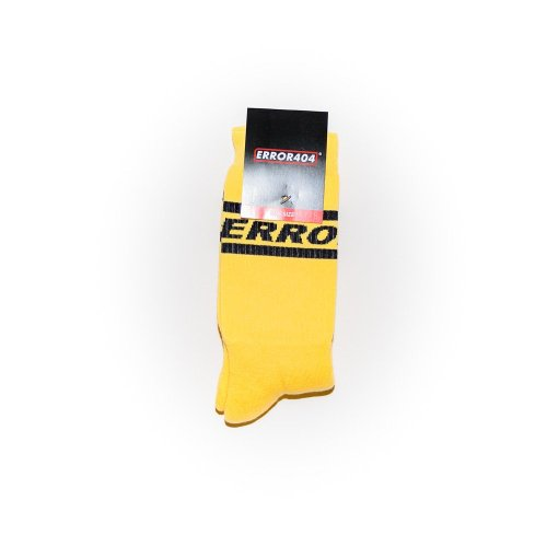 ERROR 404 SOCKS YELLOW