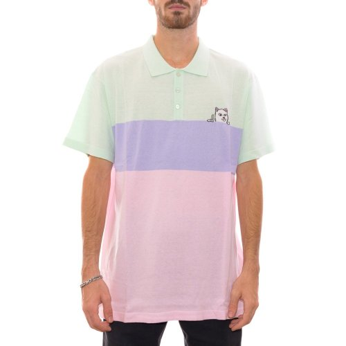 RIPNDIP PEEKING NERM KNITTED POLO MULTI