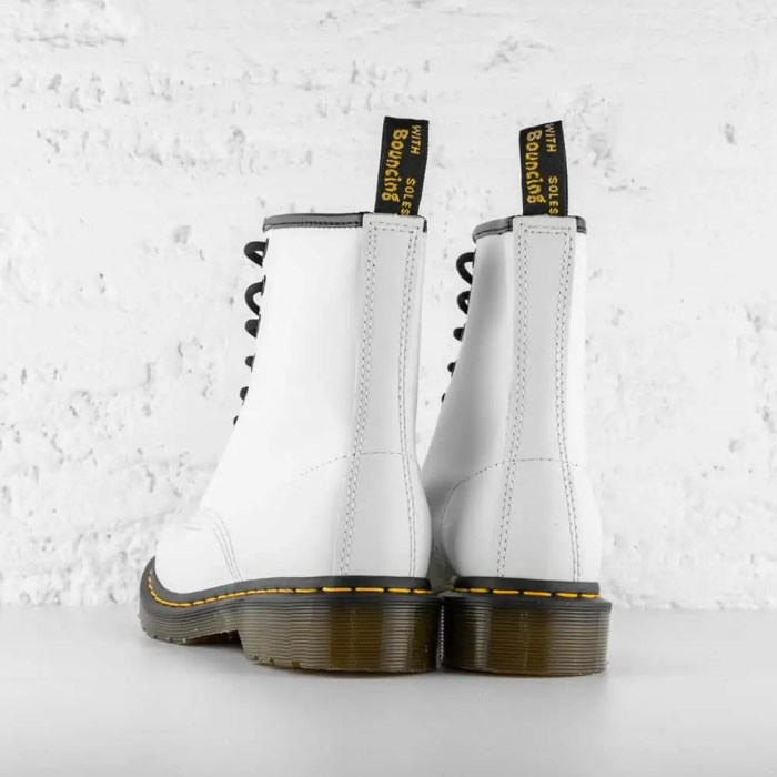 DR. MARTENS 1460 W LEATHER ANKLE WHITE SMOOTH 5