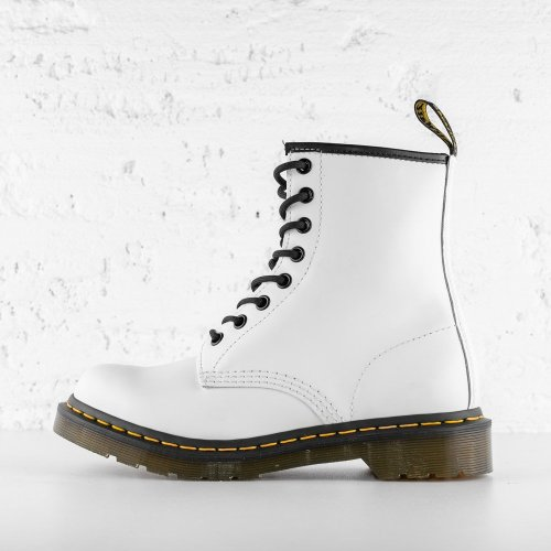 DR. MARTENS 1460 W LEATHER ANKLE WHITE SMOOTH 7