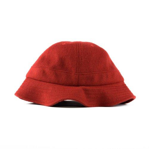 PARRA JUMPING FOX BELL BUCKET HAT RED 3