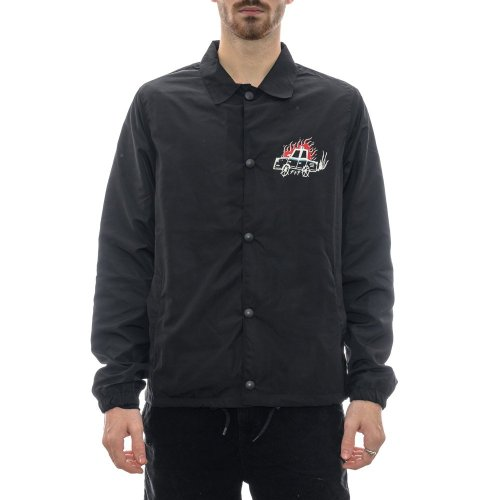 SCREW LOOSE FTP COACH JACKET BLACK