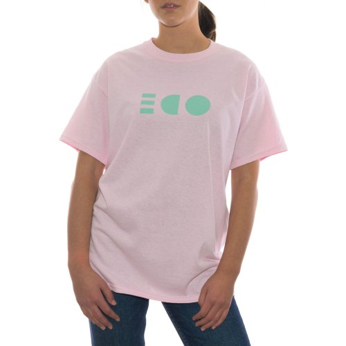 ODE TO SOCKS MIRROR PASTEL TEE COTTON CANDY PINK